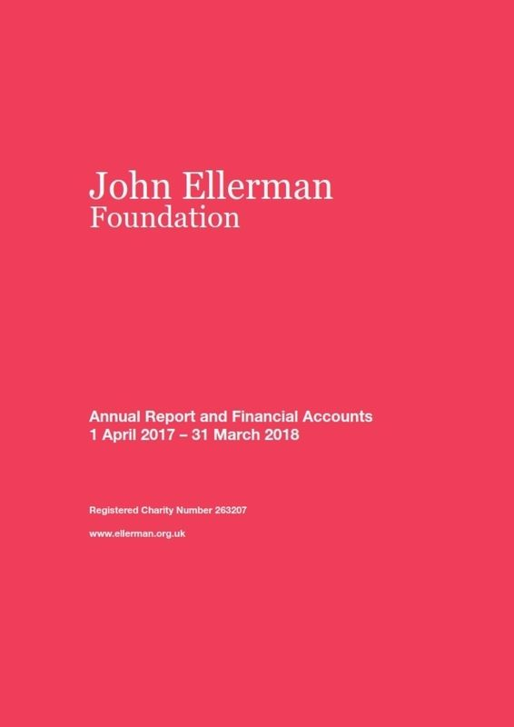 John Ellerman Foundation Annual Report And Financial Accounts 2017 2018 001